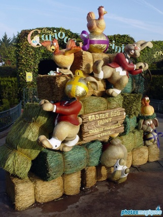 Easter Village in Fantasyland