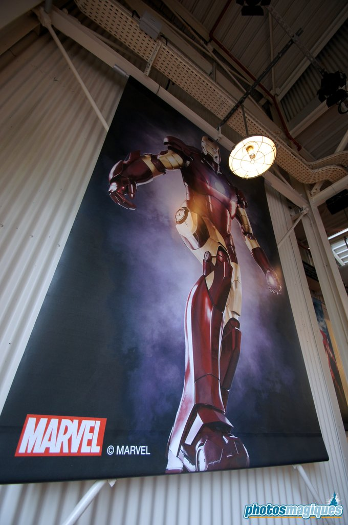 Iron Man at Disney Blockbuster Cafe