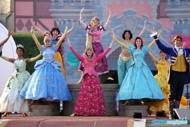 Aurora, Cinderella, Ariel, Rapunzel, Belle, Tiana, Jasmine, Beast
