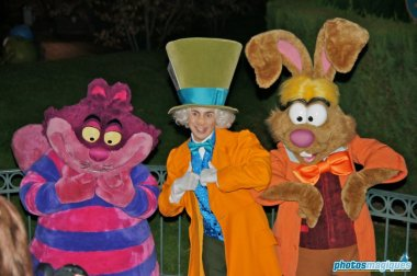 Cheshire Cat, Mad Hatter, March Hare