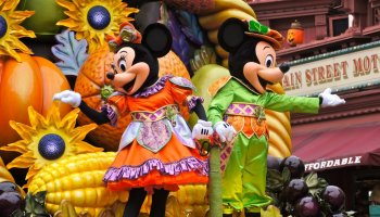 video mickeys halloween harvest celebration central plaza - What Is Halloween A Celebration Of